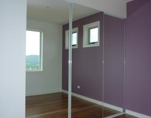 Mirrorline doors with standard mirror