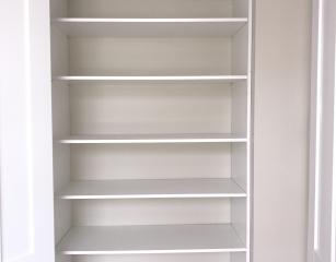 Standard bank of shelves 2050 off finished floor level